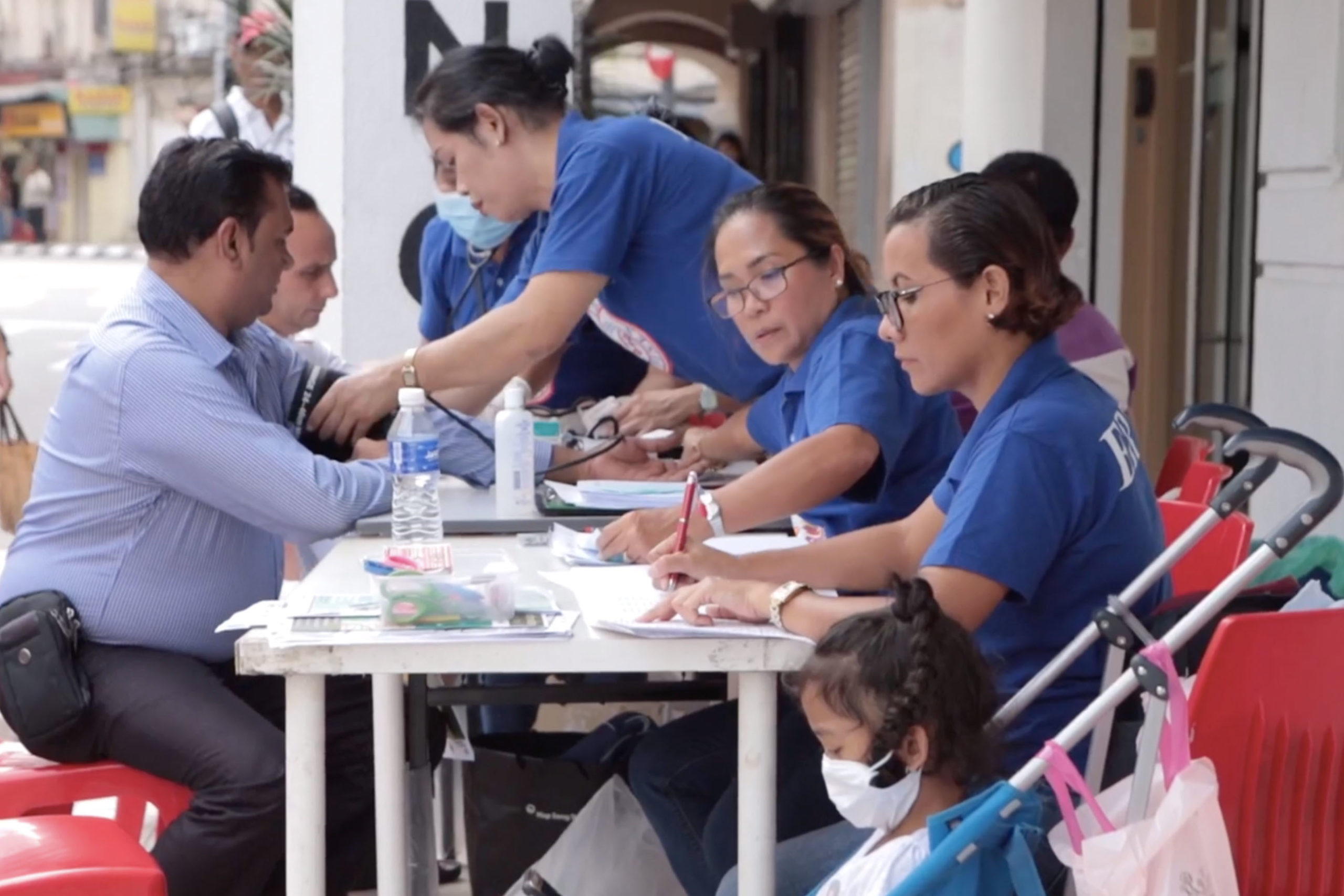 As part of Think City_s social inclusion work, migrant communities were offered free medical checkups